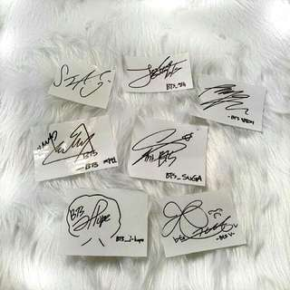 NEW BTS STICKER SIGNATURE