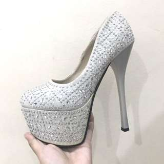 REPRICED!! SILVER HEELS