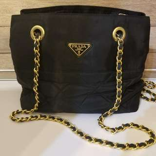 Prada 黑色 Nylon Chain Bag (側揹袋)