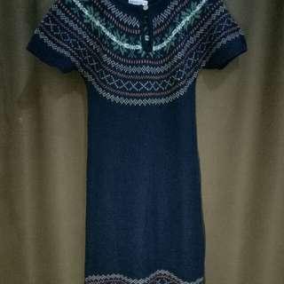 Navy Woll  Mini Dress