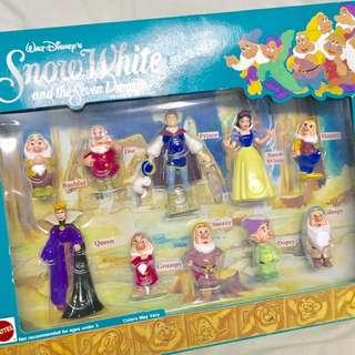 降價 🈹 絕版 迪士尼 disney 白雪公主 Snow White 小矮人 公仔 組盒