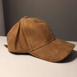 Brown Suede Cap From M