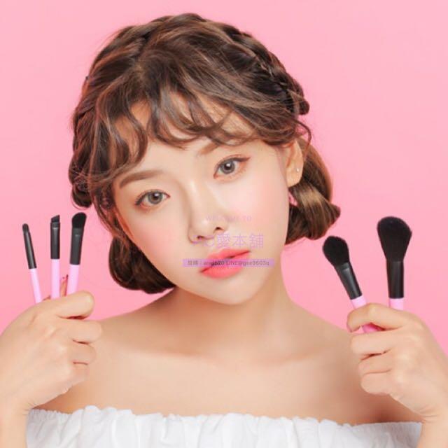 韓國連線預購3CE BARBAPAPA BRUSH KIT 泡泡先生刷具組