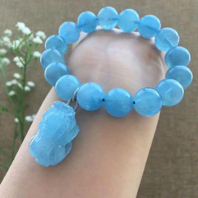 海藍寶貔貅手串