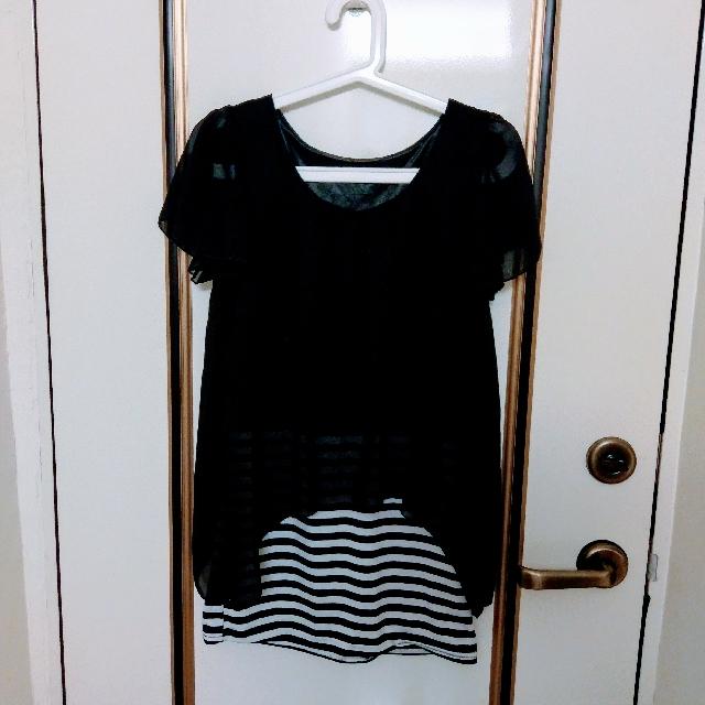 黑雪紡氣質上衣洋裝
