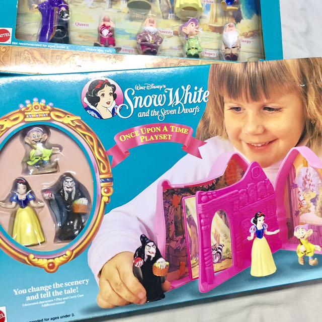 降價 🈹 絕版 迪士尼 disney 白雪公主 公仔 場景 組合