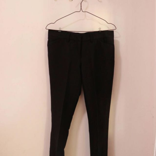 accent fit pants hitam / leging