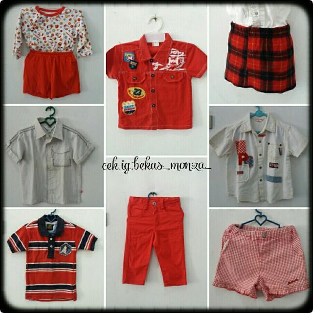 Aneka Baju Anak-anak, Laki-laki Dan Perempuan, Size 1-6thn, Berbagai Warna Dan Model, PM For Detail