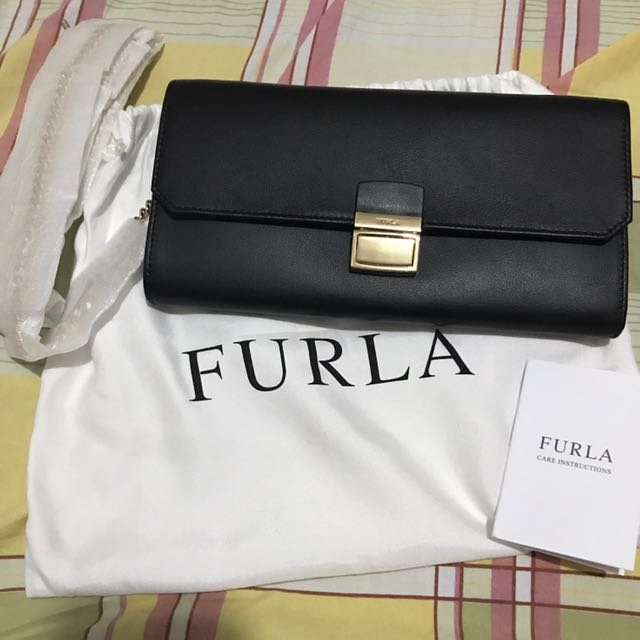 Authentic Furla Clutch Bag With Sling