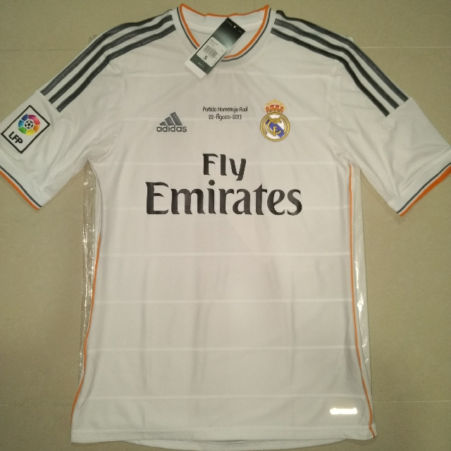 sale retailer 14299 33937 Authentic Real Madrid Jersey Raul #7 Testimonial, Sports ...