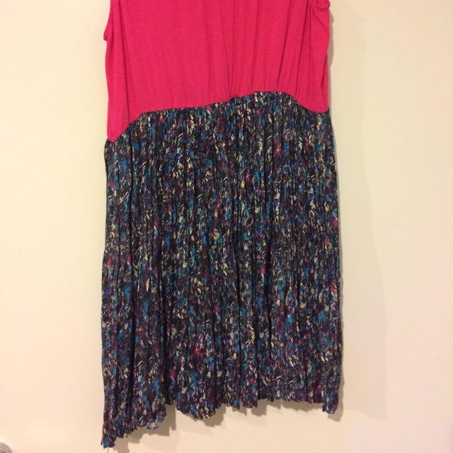 Basic Dress Pink And Black