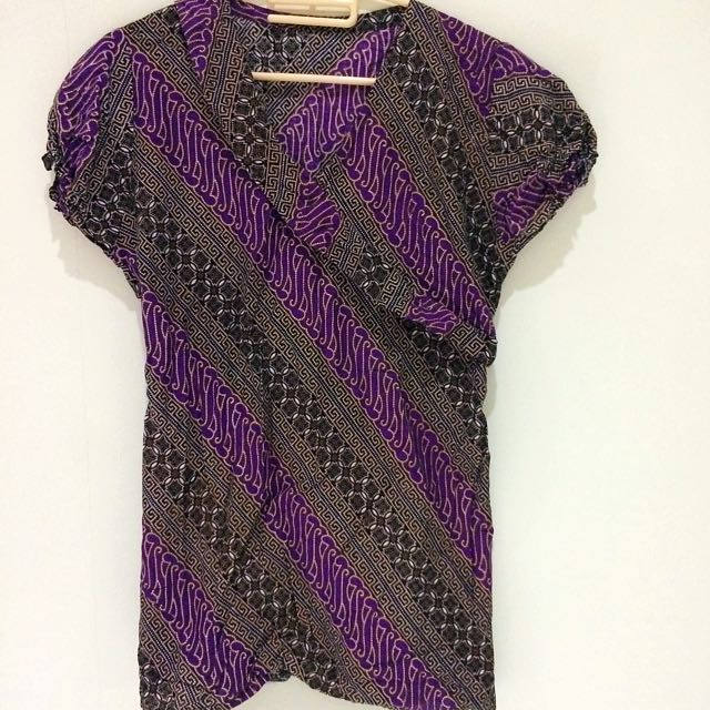 Batik Brown Purple