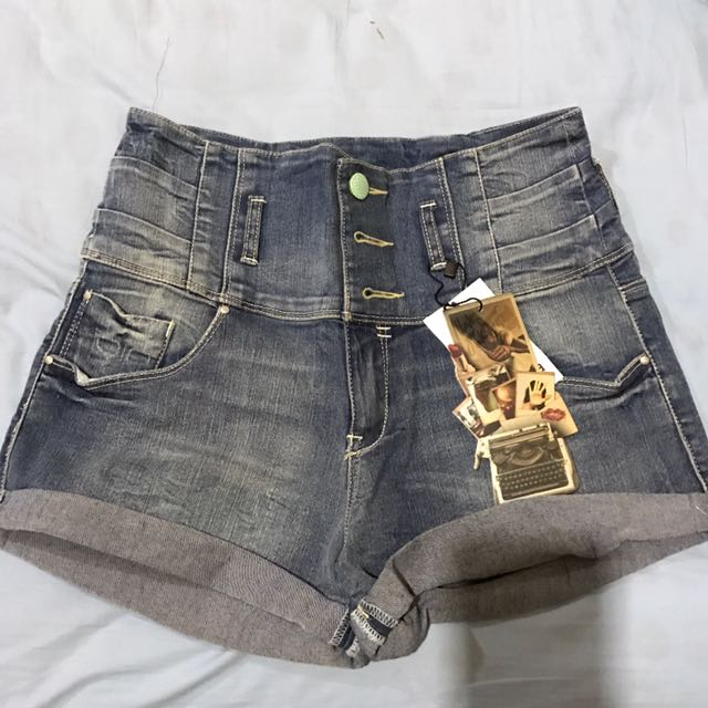 bershka hight waist short
