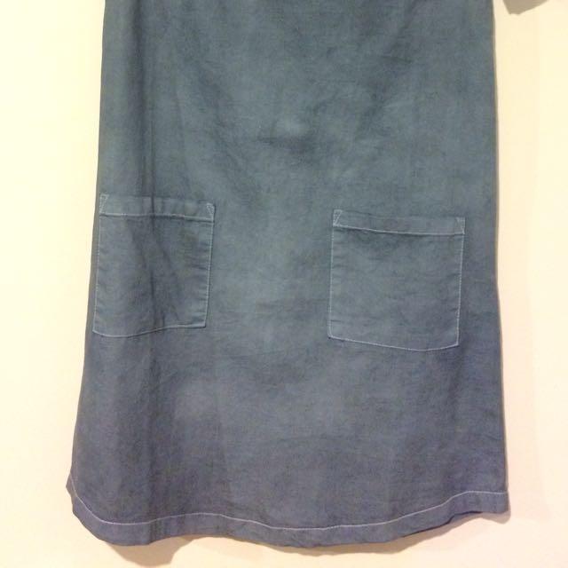 Blue/Grey Tshirt Style Dress