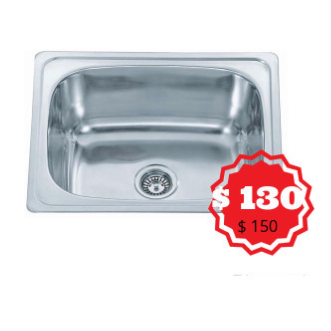 BN STAINLESS STEEL SINGLE BOWL KITCHEN SINK, Home Appliances on ...