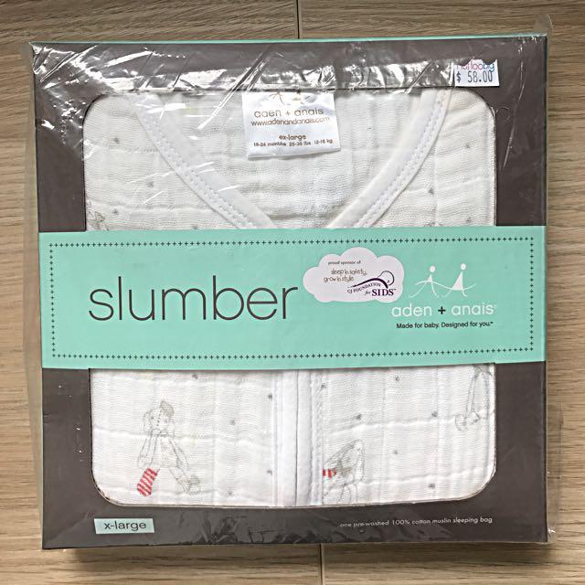 BNIB Aden + Anais Baby Muslin Sleeping Bag Sack 0.6 Tog