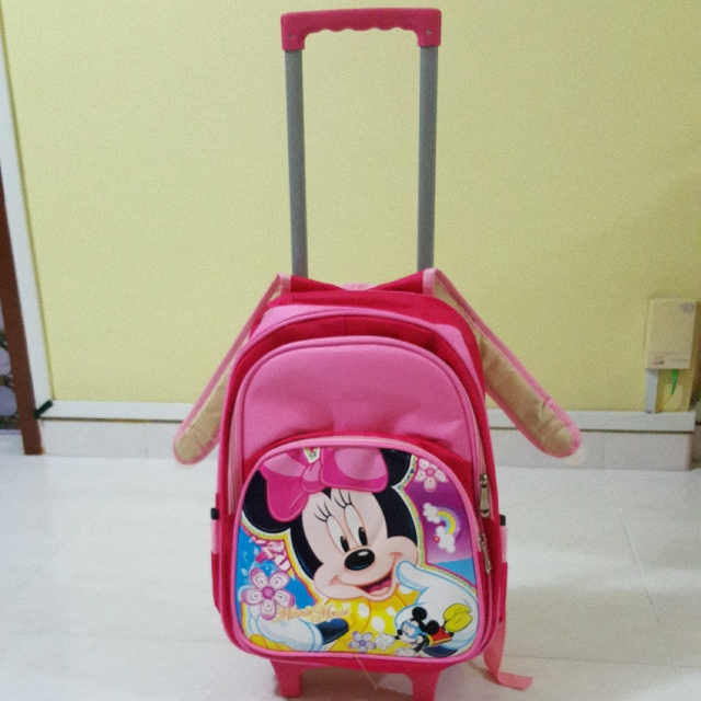9daaaa5b01b Brand New Pink Colour Disney Mickey Minnie Mouse Kid Children Pull ...