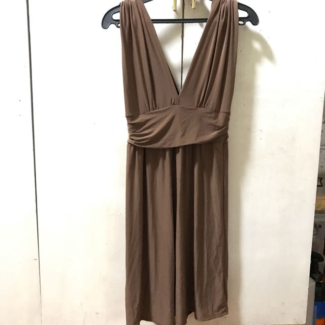 Brown Stretched Dress