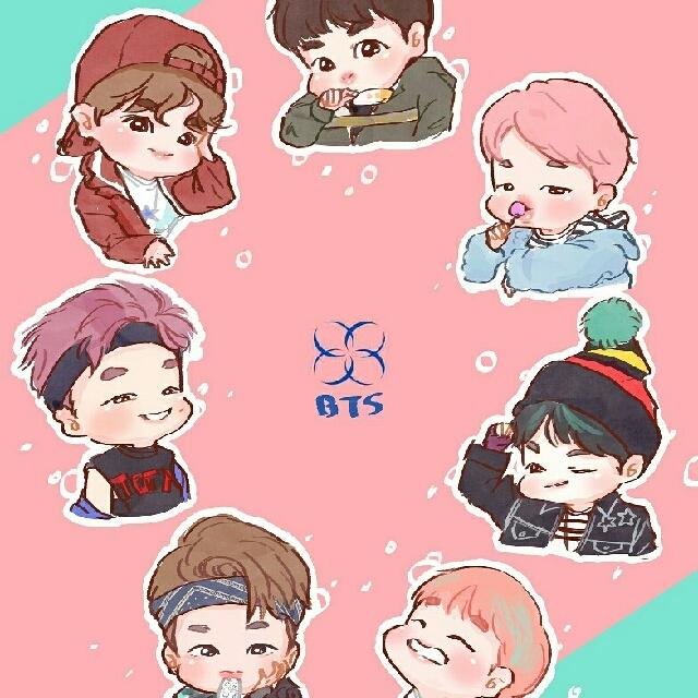 BTS Spring Day Chibi Acrylic Keyring