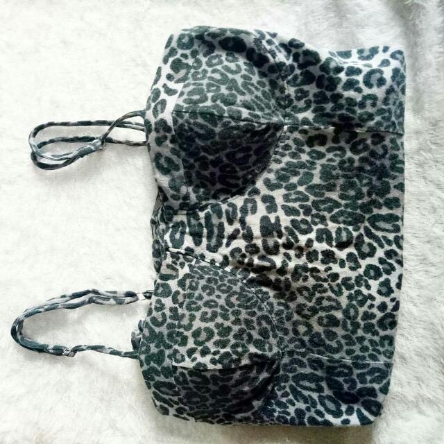 Bustier Leopard Grey