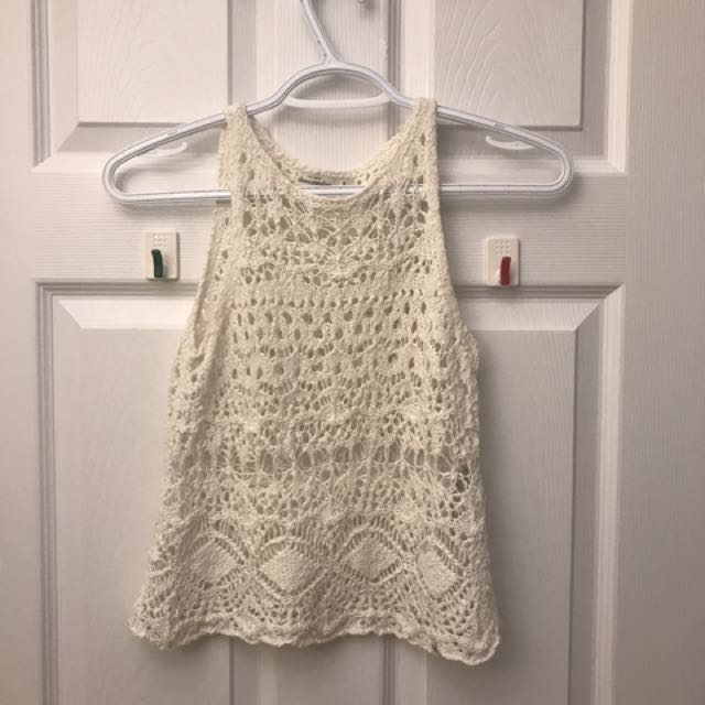 Crochet White Tank Top