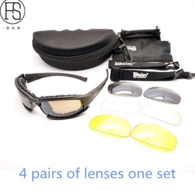 15bb23915a6 Daisy X7 Polarized Sunglasses Tactical Goggles C5 Sport Glasses Shooting  Hunting Eyewear Hiking Cycling Glasses Oculos Ciclismo