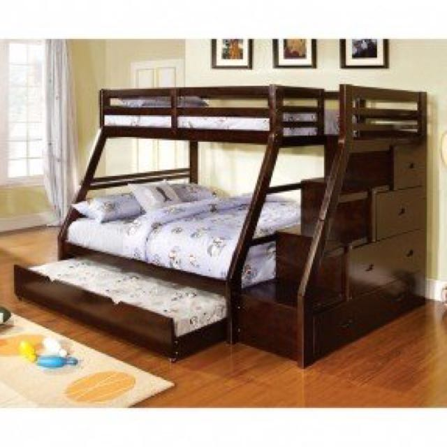 Double Deck Bed W Pull Out Home Furniture On Carousell