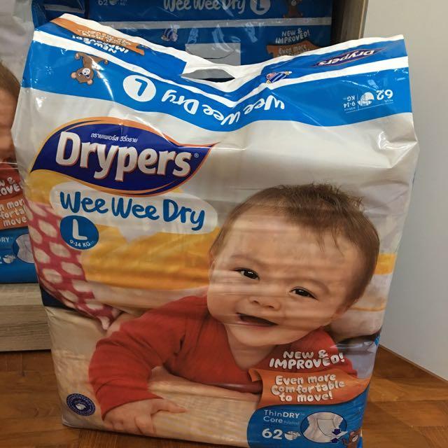 844fe765671c Drypers Wee Wee Dry Size L 62pcs pack