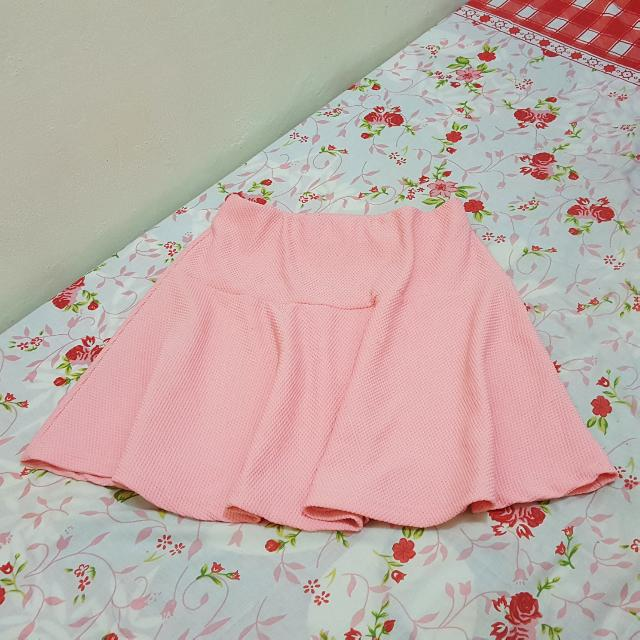 Flare Skirt Pink