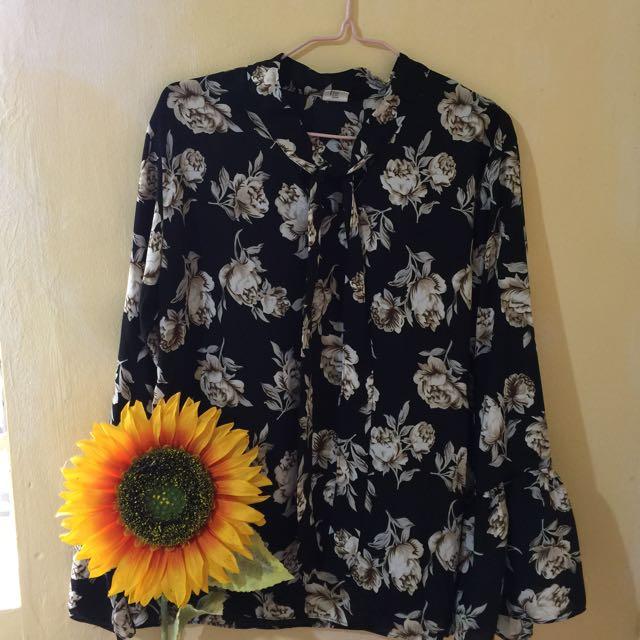 Floral Belle Sleeves Formal Top