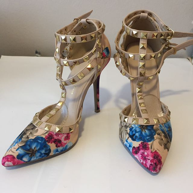 Floral Valentino Inspired Heels