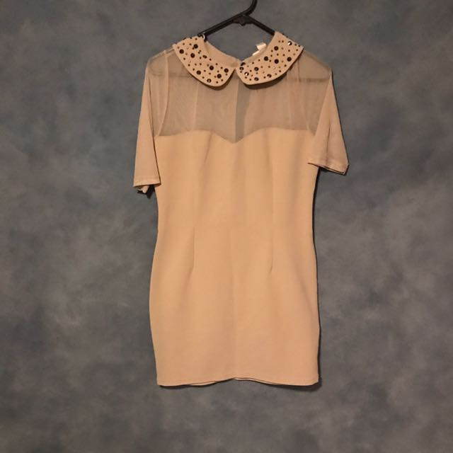 Forever 21 Dress In Nude Colour