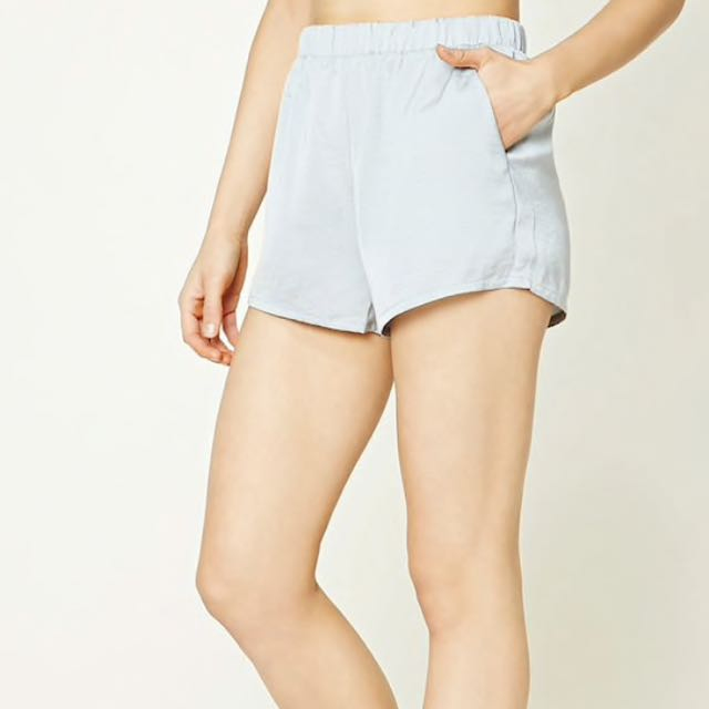 Forever 21 Grey Silk Shorts