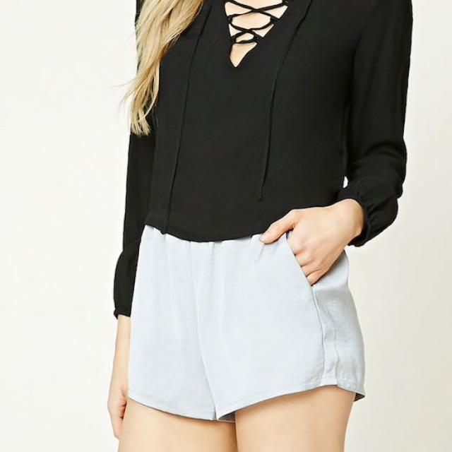 Forever 21 Grey Silk Shorts