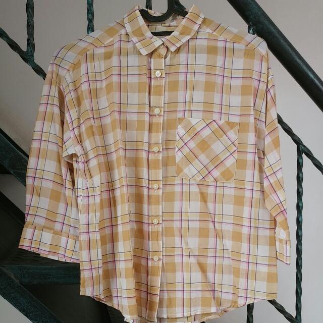 FREE Shipping GU Plaid Shirt