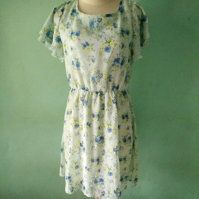 Glacier Green Floral Dress