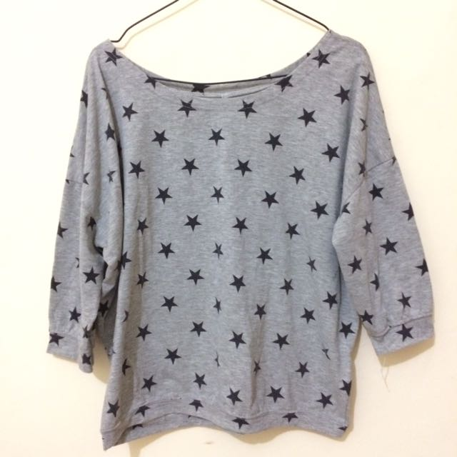 Grey Star Top