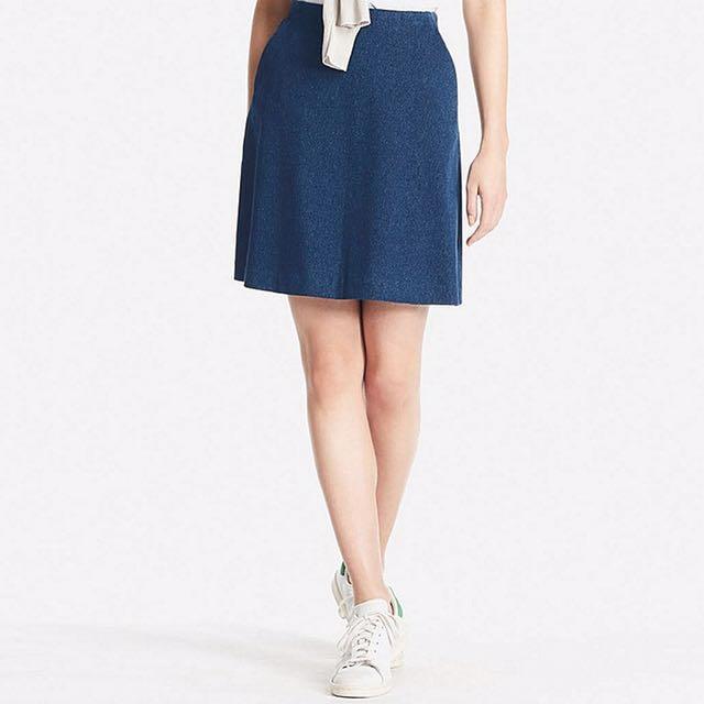 fb2abd7035 High Waist Flare Mini Skirt Uniqlo, Women's Fashion, Clothes ...