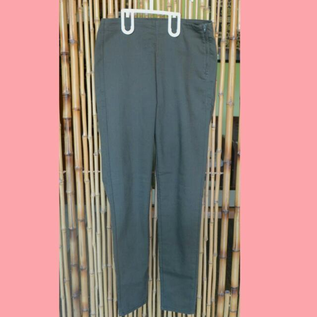 H&M Green Army Skinny Pants