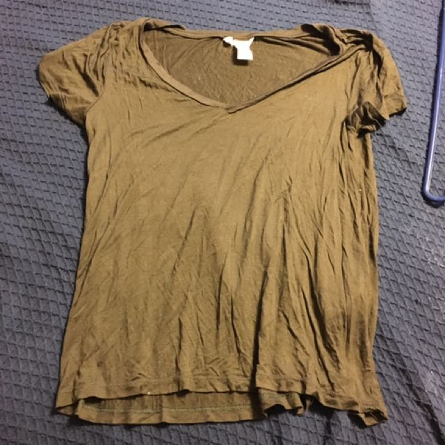 H&M Olive Green T-shirt