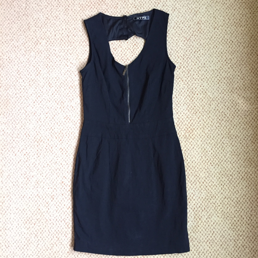 HYPE Little Black Dress with Zipper