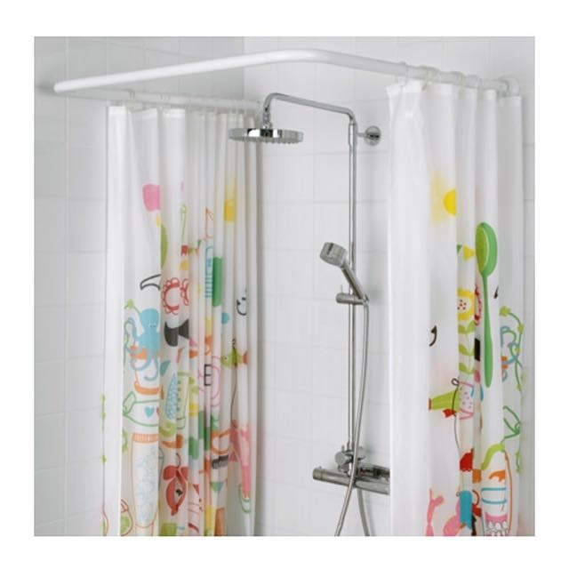 IKEA VIKARN Shower Curtain Rod Furniture Others On Carousell