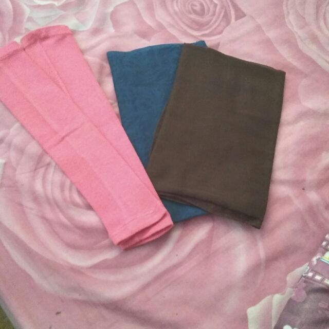 Jilbab Paris & Manset Pink