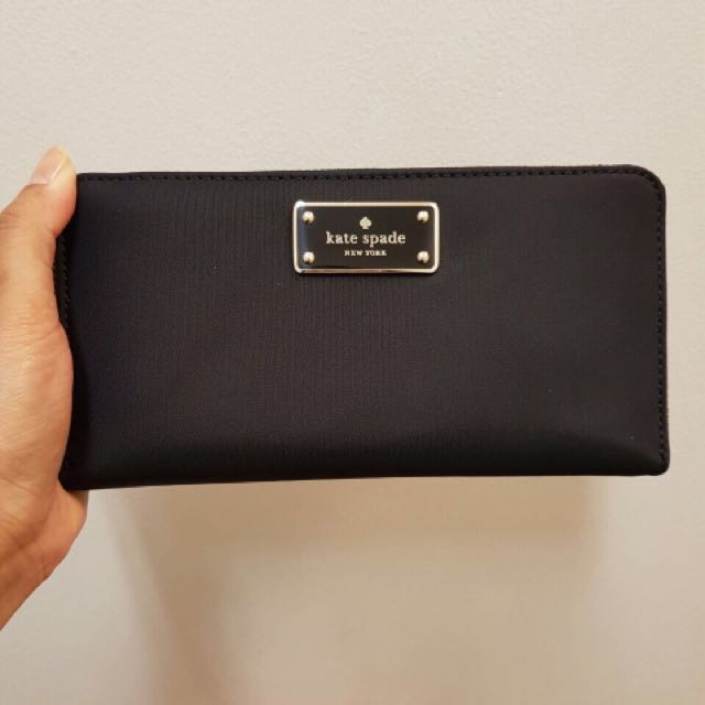 kate spade wallet satin mix leather inside