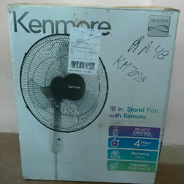 Kenmore Stand Fan 18' With Remote
