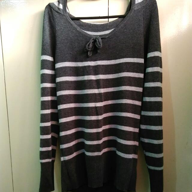 Knitted Pullover Hoodie