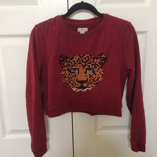 LA Hearts Cropped Sweater