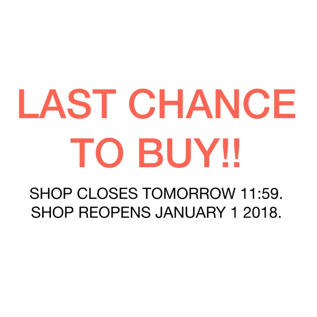 LAST CHANCE TO BUY!!