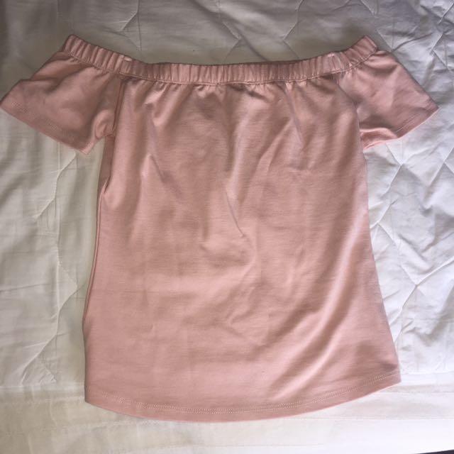 Light Pink Off-Shoulder Top
