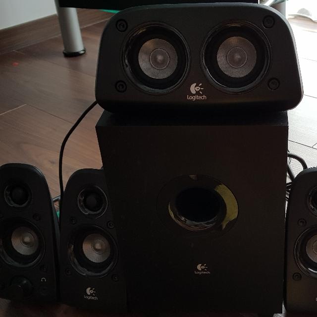 b80b40f46bf Logitech Z506 5.1 Speakers, Electronics, Audio on Carousell
